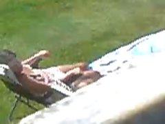 neighbour sunbathe