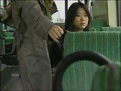 Seductive japanese Lesbo Bus sex (censored)