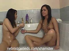 Diminutive Tanned Saucy teen College Lasses Part 1