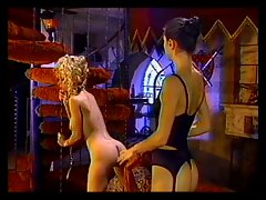 Blondie butch gimp gets sexy fanny spanked