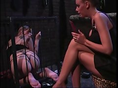 2 smoking lewd girls into bondage & foot fetish