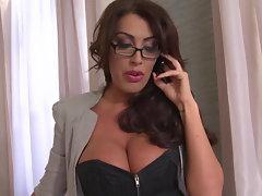 Sensual Office Employees Ava Koxxx & Sandra Starlet Have Big Breast