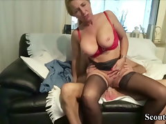 GERMAN Step-brother CAUGHT Mum STEP-SISTER JENNY AND GET FUCK