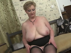 Big Buxom solid momma with thirsty labia