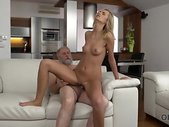 OLD4K. Sexy experienced man was glad to please his...