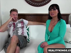 Reality Kings - Skanky cougar Mahina Zaltana dresses up like a