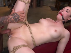 Filthy Figure Casey Calvert Restrained and Screwed in Brutal Strap