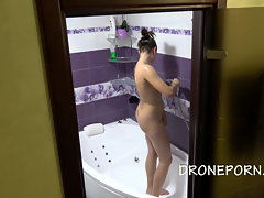 Czech Doll Petra Bare in the bathroom hidden spy webcam
