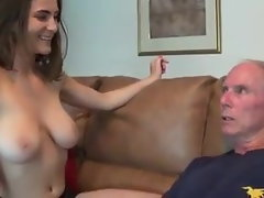 19yo chick makes handjob to experienced man