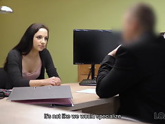 LOAN4K. Assfucking helps brainy nympho get credit for her...