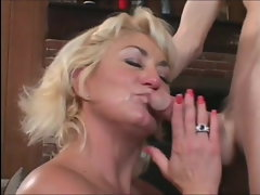 Promiscuous hussy Dana Hayes fellatio fuck-sticks