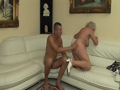 The first-ever time he screws a filthy granny!