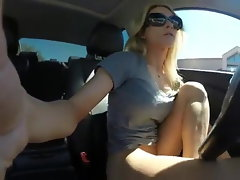 Damsel Piss in her Car