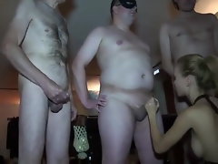 Russian Alluring Bitch Slutty wife gets used & gang fucked