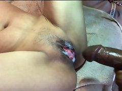 Large ebony shaft internal cumshot wee Asian