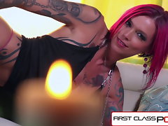 FirstClassPOV - Anna Bell Peaks fellatio a monster trunk