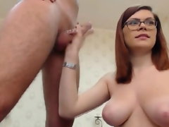 Big titted Bore Slurps Her Bf's Chisel