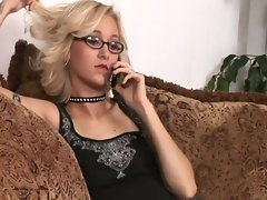 tempting blonde bombshell kittie pegs masculine vixen maid
