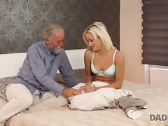 DADDY4K. Amazing dad and 18yo dame fuck-fest ended with cumshot..