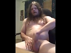 longhaired guy  jerks off