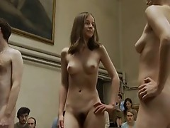 real hairy nude models in front of class