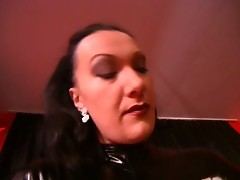 Mistress brings down beatings on her slaves