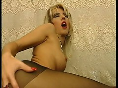 Euro slut fucked in pantyhose!