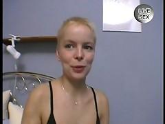 Sexy blonde masturbating