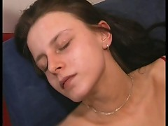 Amateur sex video of two babes and one cock