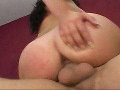 Brunette bitch fucked by huge cock