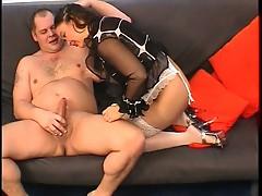 Sexy fattie toys her pussy