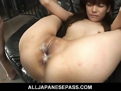 Asian doll gets squirted on