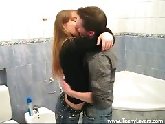 Teens fucking in the bathroom