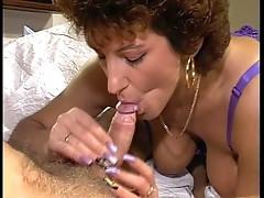 hairy brunette loves the cock