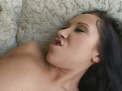 Nasty brunette babe in hardcore ass fucking fun