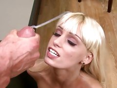 Erica Fontes accepts a hot load from Peter North