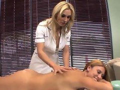 Alluring Tanya Tate rubs this chick up the right way