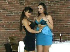 Sexy babes Lisa Ann & Vannah Sterling strip each other