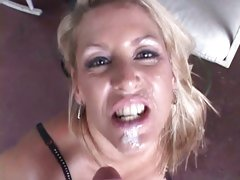 Alluring Chelsea Zinn gets her face splattered with cum