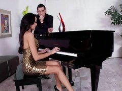 Perfect pianist Breanne Benson is getting horny