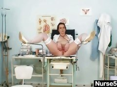 Unpretty mature nurse weird gyno tool insertion