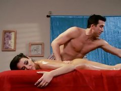 Sassy Charley Chase gets a sexy rub down from a hunk