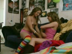 Randy whores Ella Milano & Lynn Love experiment