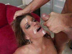 Sassy Kristal Summers gets showered in nob sauce