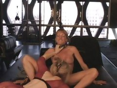 Horny Nina Hartley goes down on Shayla Laveaux