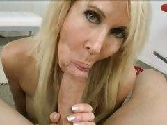 Amazing Erica Lauren drools on this throbbing dick