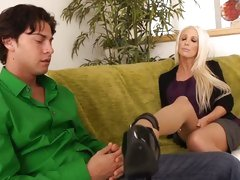 Horny cougar Holly Price is on the prowl