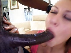Sassy Katie Summers gobbles down this massive dick