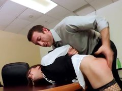 McKenzie Lee gets her ass felt in the office