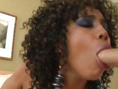 Awesome Misty Stone drools on this white fuck stick